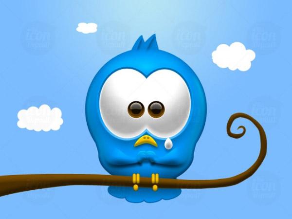 sad Twitter bird