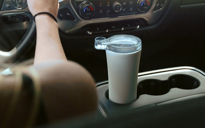 Sidesip drink container