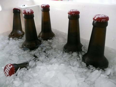 Epic Beer in ice